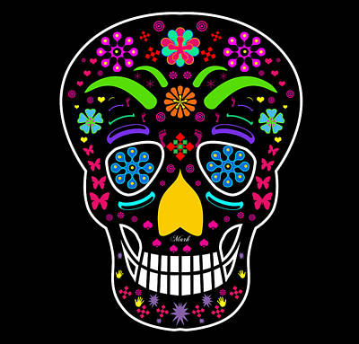 Skull Poster by Mark Ashkenazi