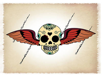 Skull3 Poster by Mark Ashkenazi