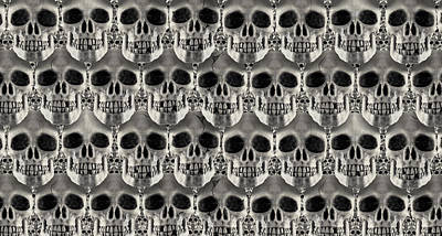 Skulls 2 Poster by Mike McGlothlen