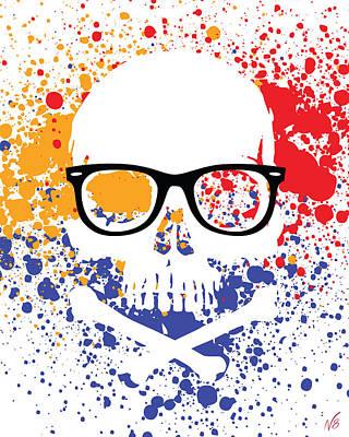 Skullz Ray-ban Wayfarer Poster by Decorative Arts