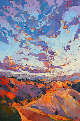 Wine Country Poster featuring the painting Sky Break by Erin Hanson