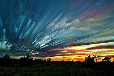 Sky Feathers Poster by Matt Molloy