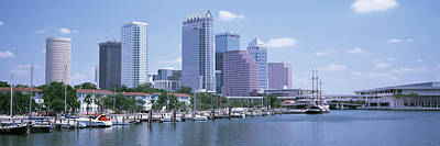 Skyline & Garrison Channel Marina Tampa Poster by Panoramic Images