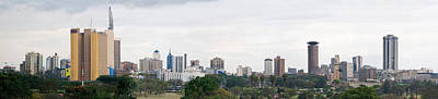 Skyline In A City, Nairobi, Kenya 2011 Poster by Panoramic Images