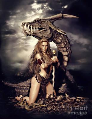 Slayers Fantasy Art Poster by Shanina Conway