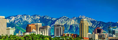 Slc Skyline With Lds Temple Poster by La Rae  Roberts
