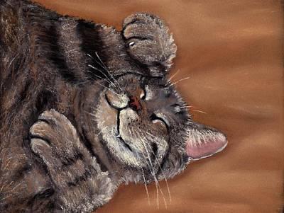 Sleepy Kitty Poster by Anastasiya Malakhova