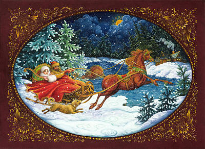 Sleigh Poster featuring the painting Sleigh Ride by Lynn Bywaters