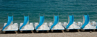 Slide Boats On Beach, Lac De Sainte Poster by Panoramic Images