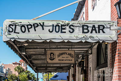 Sloppy Joe's Bar Canopy Key West Poster by Ian Monk
