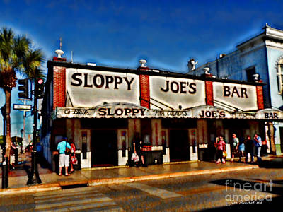 Sloppy Joe's Bar Poster by Joan  Minchak