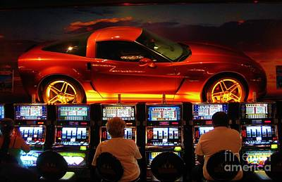 Slots Players In Vegas Poster by John Malone