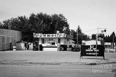 small roadside diner leader Saskatchewan Canada Poster by Joe Fox
