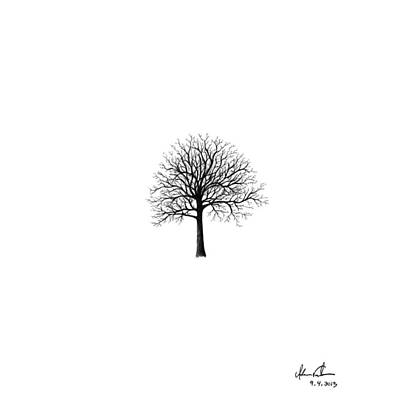 Small Tree Silhouette Poster by Adam Vereecke