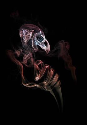 Smoke Skull Poster by Jaroslaw Blaminsky