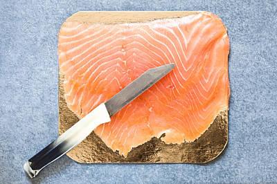 Smoked Salmon Poster by Tom Gowanlock