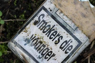 Smoking Health Warning Poster by Robert Brook