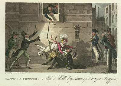 Smuggling A Woman Into An Oxford College Poster by British Library