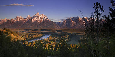 Snake River Panorama Poster by Andrew Soundarajan