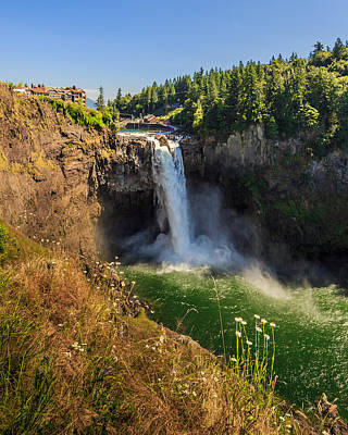 Snoqualmie Falls And Salish Lodge Poster by Scott Campbell