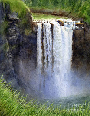 Snoqualmie Falls Without The Lodge Poster by Sharon Freeman