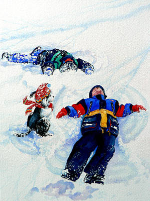 Snow Angels Poster by Hanne Lore Koehler