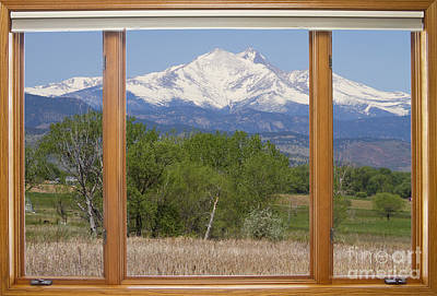 Snow Capped Longs Peak Picture Window View Poster by James BO  Insogna