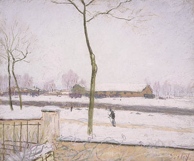Snow Effect Effet De Neige Pastel On Paper C. 1880-1885 Poster by Alfred Sisley