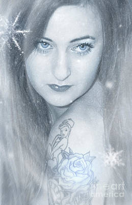 Snow Lady Poster by Svetlana Sewell