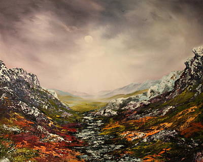 Snow On The Cairngorms Poster by Jean Walker