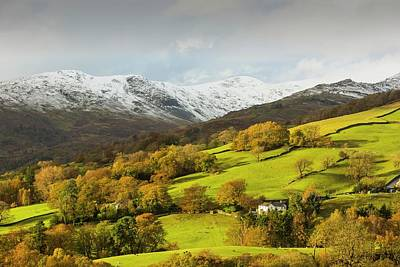 Snow Over Fairfield Poster by Ashley Cooper