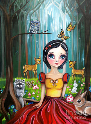 Snow White In The Enchanted Forest Poster by Jaz Higgins