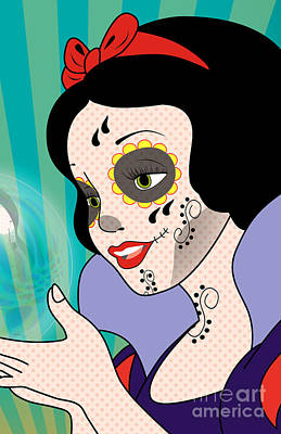Snow White Mexican Day Poster by Mark Ashkenazi