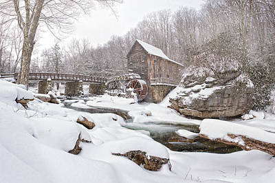 Snowglade Creek Grist Mill 1 Poster by Emmanuel Panagiotakis