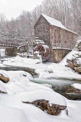 Snowglade Creek Grist Mill Poster by Emmanuel Panagiotakis
