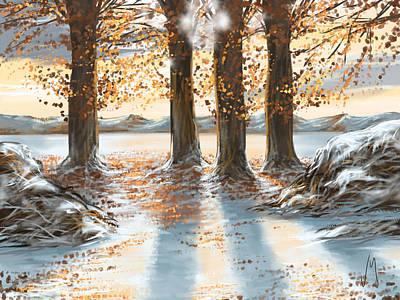 Snowscape Poster by Veronica Minozzi