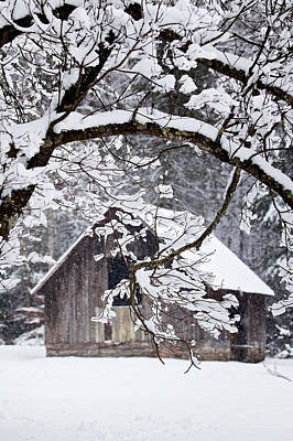 Snowy Barn 2 Poster by Rob Travis