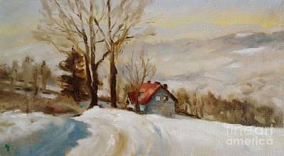 Snowy Landscape In Poland Poster by Karina Plachetka
