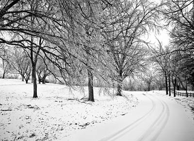 Snowy Road Poster by Eric Benjamin