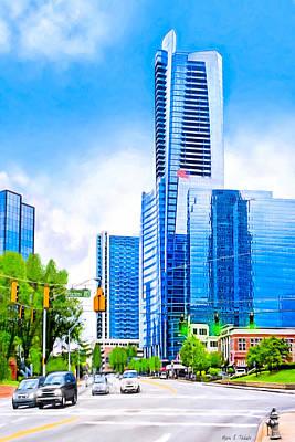 Soaring Into The Buckhead Skies - Atlanta Skyline Poster by Mark E Tisdale