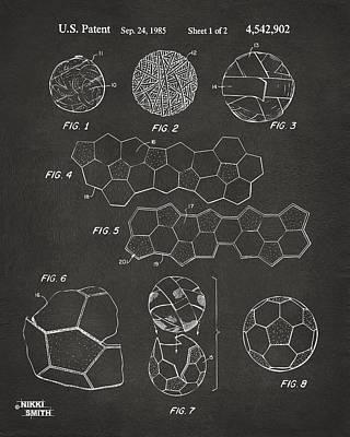 Soccer Ball Construction Artwork - Gray Poster by Nikki Marie Smith