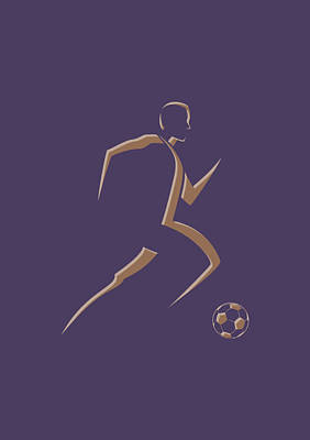 Soccer Player3 Poster by Joe Hamilton