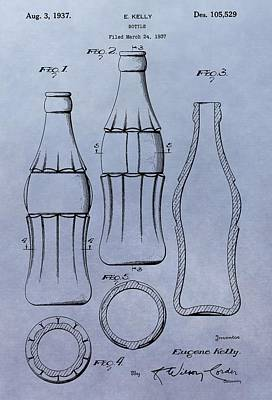 Soda Bottle Patent Poster by Dan Sproul