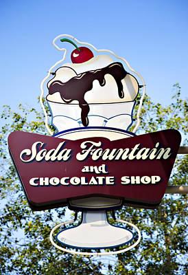 Soda Fountain Poster by Ricky Barnard