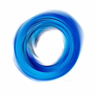 Soft Blue Enso - Abstract Art By Sharon Cummings Poster by Sharon Cummings