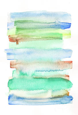 Soft Blue Green  Poster by Valourine Watercolors