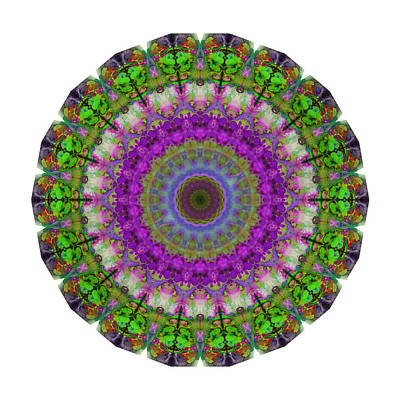 Soft Light - Kaleidoscope Mandala By Sharon Cummings Poster by Sharon Cummings