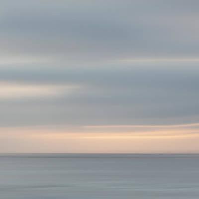Soft Sunset La Jolla Poster by Carol Leigh