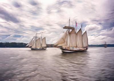 Softly Sailing Poster by Georgiana Romanovna