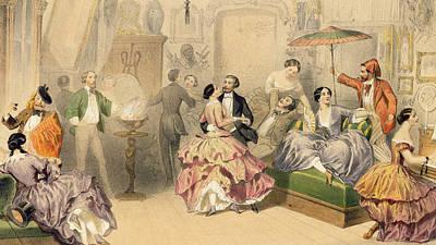 Soirees Parisiennes Poster by Henri de Montaut
